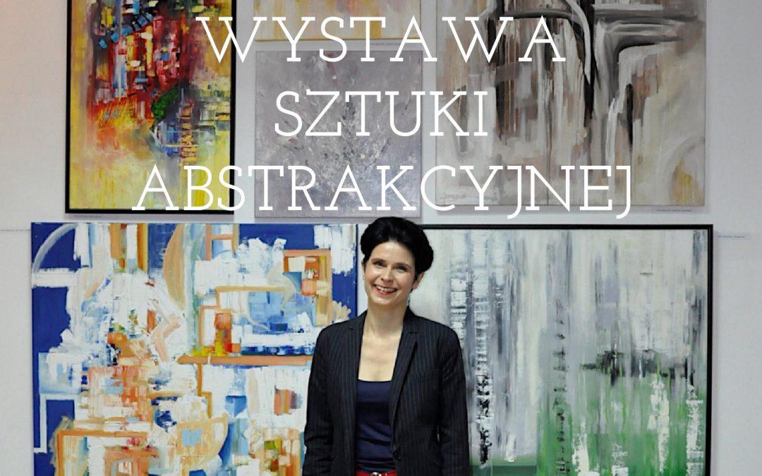 Sztuka abstrakcyjna. Wystawa obrazów w Puławskim Ośrodku Kultury.