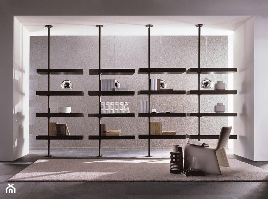 Regały- ścianki działowe. Jak efektownie podzielić przestrzeń w dużym salonie?